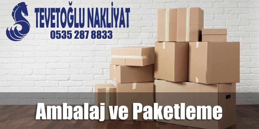 Ambalaj ve Paketleme istanbul tevetoğlu evden eve nakliyat